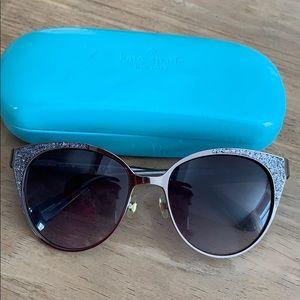 Kate Spade ♠️ Glitter Cat Eye Sunglasses